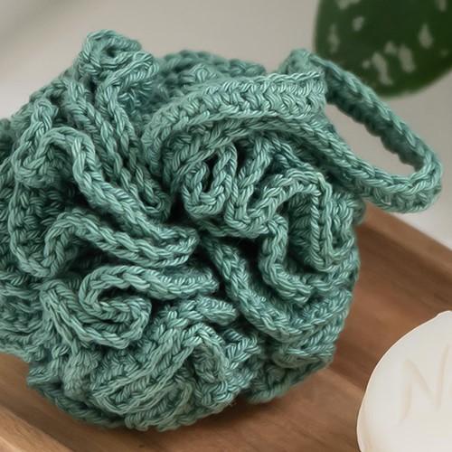 Crochet Pattern Yarn and Colors Shower Pouf