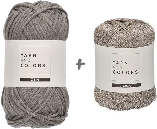 Yarn and Colors Knot a Scarf Knitting Kit 2 Shark Grey
