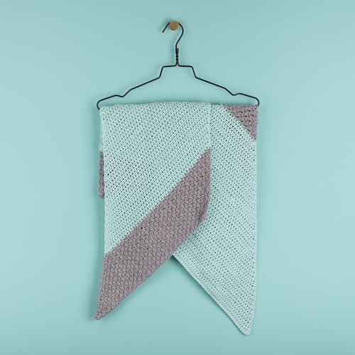 Yarn and Colors Slanted Scarf Crochet Kit 073 Jade Gravel