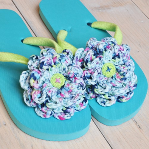Crochet pattern flipflops