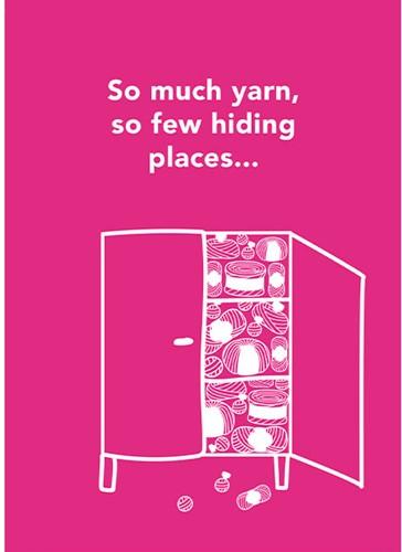 Yarnplaza Postcard - So much yarn, so few hiding places