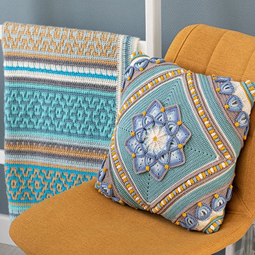 Flowerful Cushion Crochet Kit