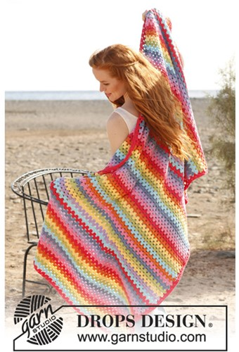 Crochet pattern Stripe blanket