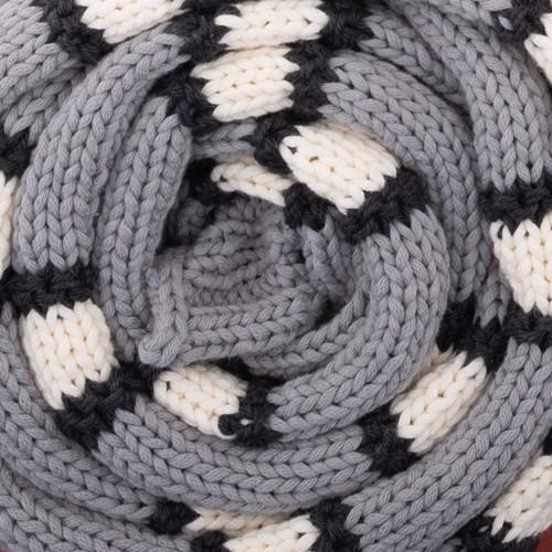 Yarn and Colors Striped Scarf Knitting Kit 096 Shark Grey
