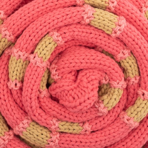 Yarn and Colors Striped Scarf Knitting Kit 041 Coral