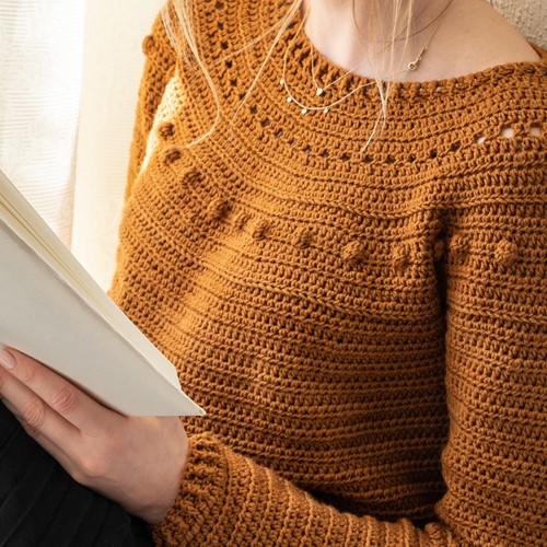 Yarn and Colors Sunrise Sweater Crochet Kit 2 Satay L