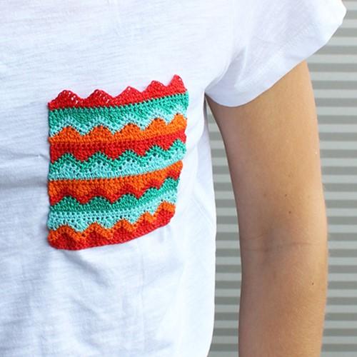 Crochet Pattern T-shirt Pocket