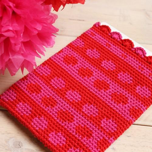 Crochet pattern Tapestry tablet cover