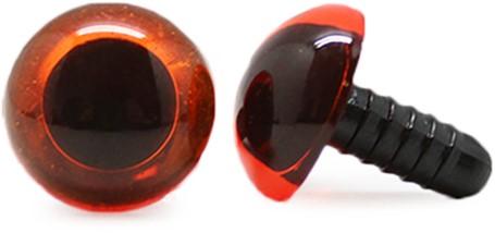 Safety Eyes Transparent Orange (per piece) 16mm