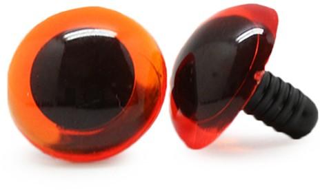 Safety Eyes Transparent Orange (per piece) 18mm