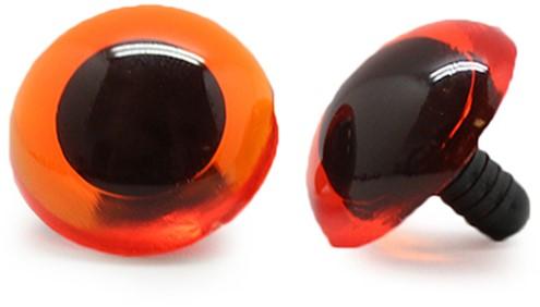 Safety Eyes Transparent Orange (per piece) 20mm