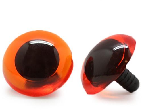 Safety Eyes Transparent Orange (per piece) 24mm
