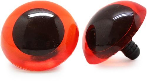 Safety Eyes Transparent Orange (per piece) 30mm