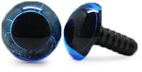 Safety Eyes Transparent Blue (per piece) 10mm