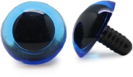 Safety Eyes Transparent Blue (per piece) 18mm