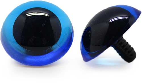Safety Eyes Transparent Blue (per piece) 30mm