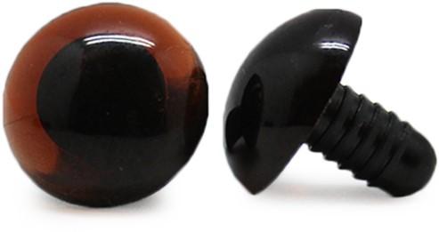 Safety Eyes Transparent Brown (per piece) 18mm