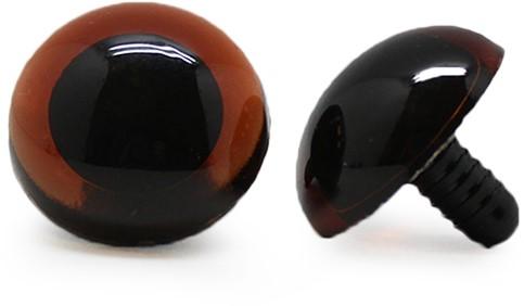 Safety Eyes Transparent Brown (per piece) 20mm