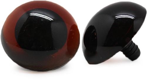 Safety Eyes Transparent Brown (per piece) 30mm