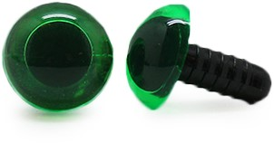 Safety Eyes Transparent Green (per piece) 10mm