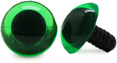 Safety Eyes Transparent Green (per piece) 14mm