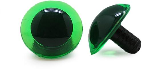 Safety Eyes Transparent Green (per piece) 16mm