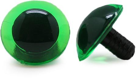 Safety Eyes Transparent Green (per piece) 18mm