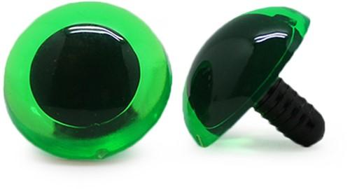 Safety Eyes Transparent Green (per piece) 24mm