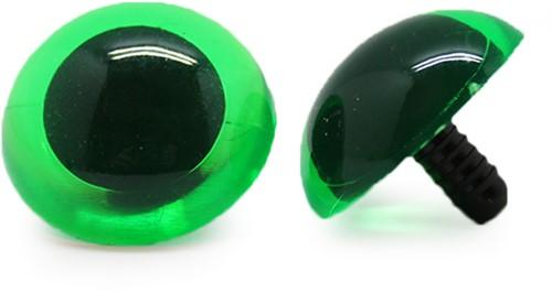 Safety Eyes Transparent Green (per piece) 30mm