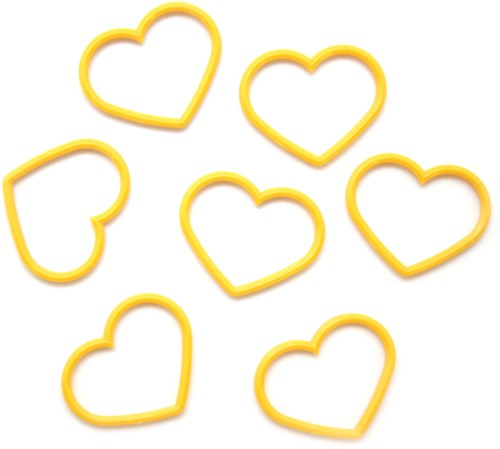 Tulip Stitch Markers Heart Solid-Colored 1 Yellow XL