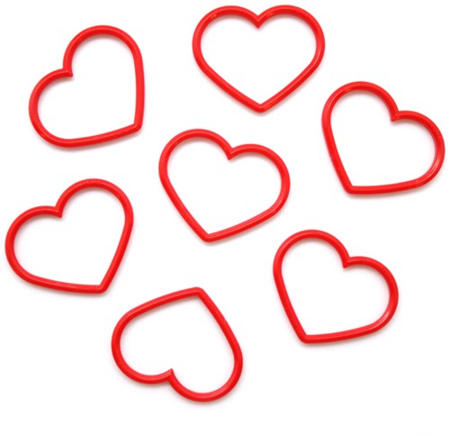 Tulip Stitch Markers Heart Solid-Colored 2 Red XL