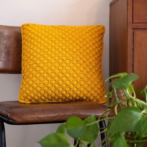 Crochet Pattern Home-Deco Bobble Cushion