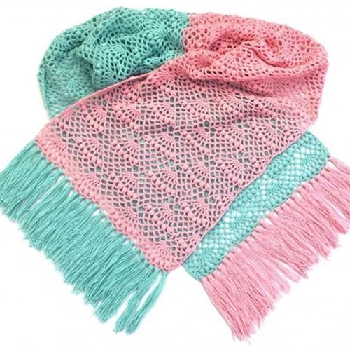 Crochet Pattern Fan Shawl Rectangle