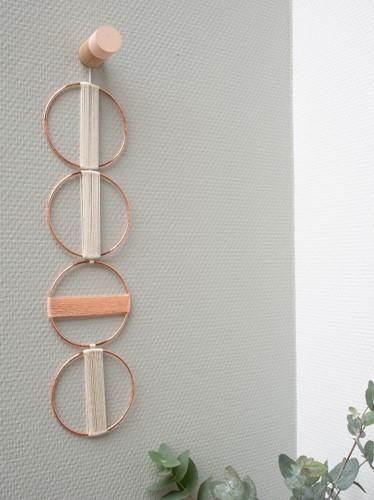 Yarn and Colors Mini Malistic WOW! Wall Hanging Kit 042 Cream / Peach