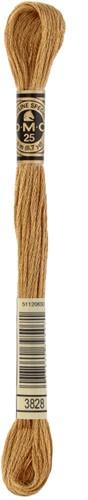 DMC 117MC Mouliné Spécial Embroidery Thread 8m 3828