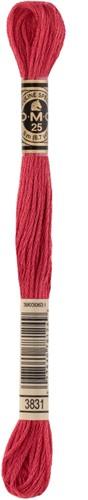 DMC 117MC Mouliné Spécial Embroidery Thread 8m 3831