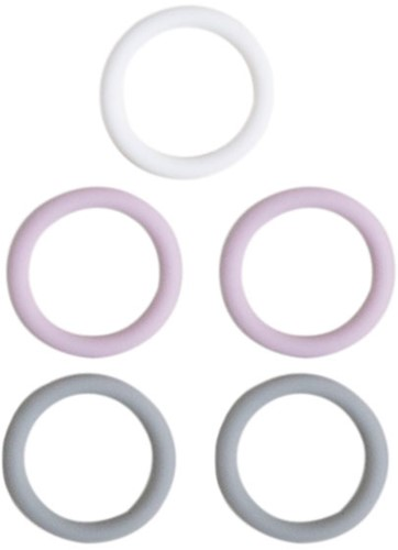 Silicone Rings 5 Pieces 02 Lavender Mix