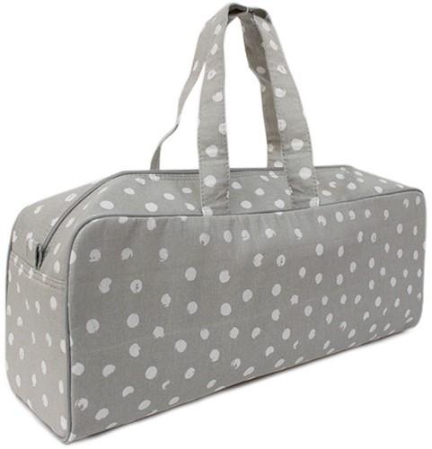 Yarnplaza Knitting Bag Medium Grey Dots