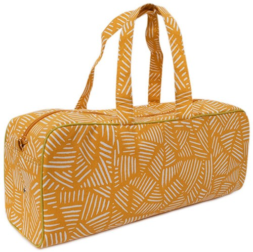 Yarnplaza Knitting Bag Medium Mustard Stripes