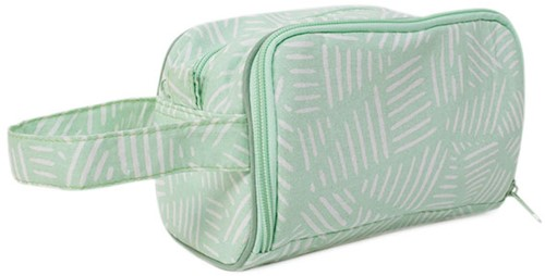 Yarnplaza Crochet Pouch Small Mint Stripes