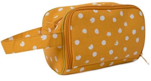 Yarnplaza Crochet Pouch Small Mustard Dots
