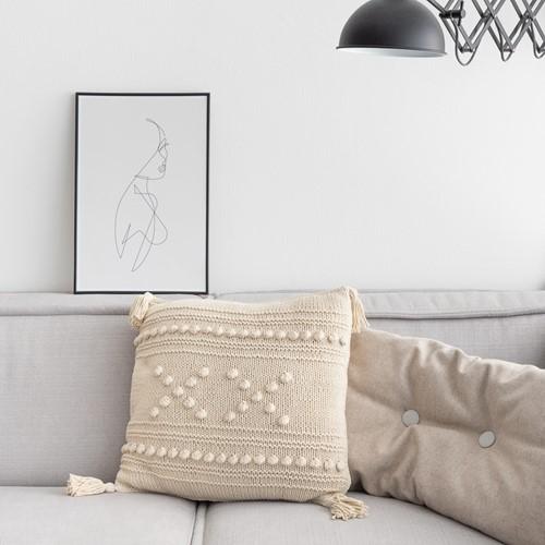 "Knitting Pattern Yarn and Colors ""XX"" Cushion"