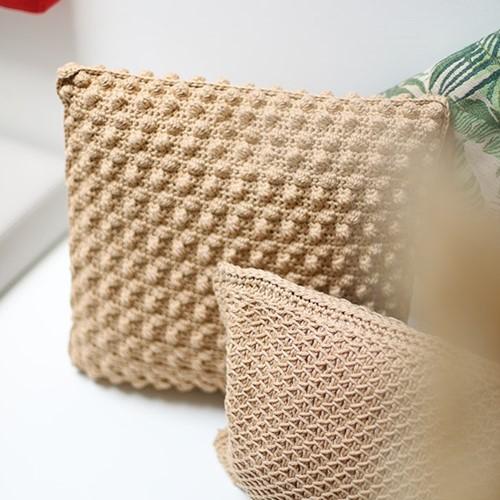 Yarn and Colors Bobbles Comfy Cushion Crochet Kit 009 Limestone