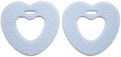 Teether Rings Heart 59 Soft Blue