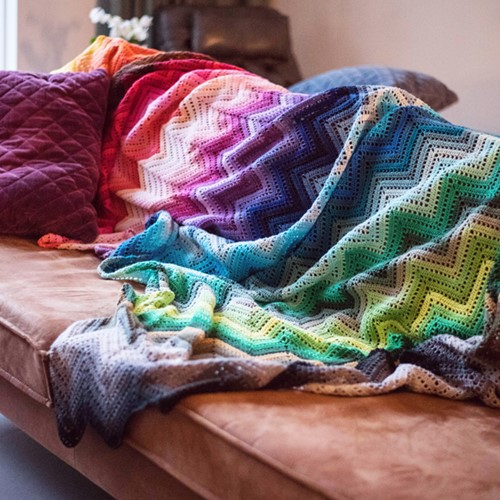 100 Colours Ripple Blanket Crochet Kit