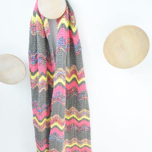 Knitting pattern Zigzag scarf