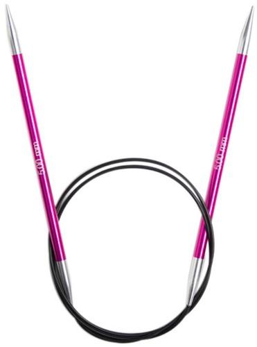 KnitPro Zing Fixed Circular Knitting Needles 80cm 5mm